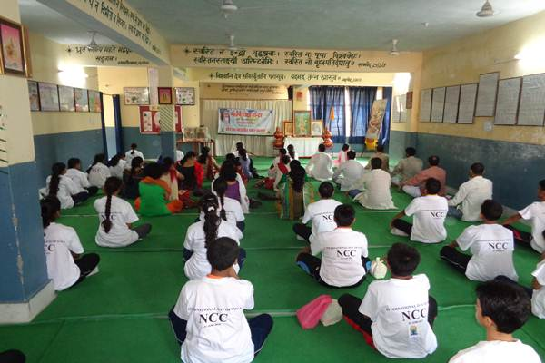 Yoga and TM Practice on International Yog Diwas.